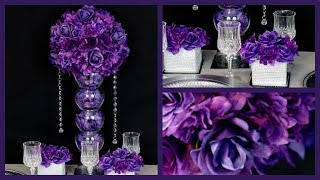 Purple Passion Centerpiece | Diy Wedding Centerpiece | How To Create The Passion Purple Centerpiece