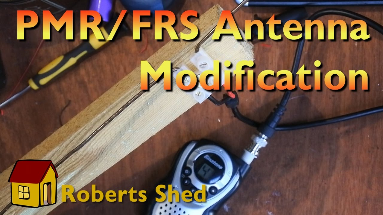 Modifiing a PMR or FRS radio antenna for better receive performance