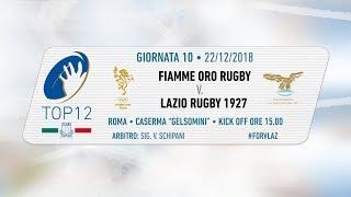 TOP12 2018/19, Giornata 10 - Fiamme Oro Rugby v Lazio Rugby 1927