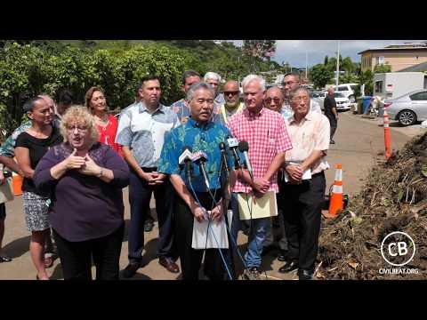 Hawaii Flooding Press Conference