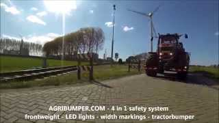 tractor CRASH Massey Ferguson 8690  ACCIDENT with a tractorbumper as 800kgFRONTWEIGHT
