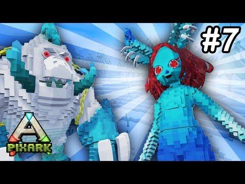 ❄️PixARK DEFEATING ICE QUEEN & BEHEMOTH BOSS!! PixARK Ice Dungeon Run