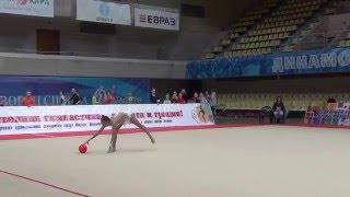 Арина Аверина мяч показательное выступление