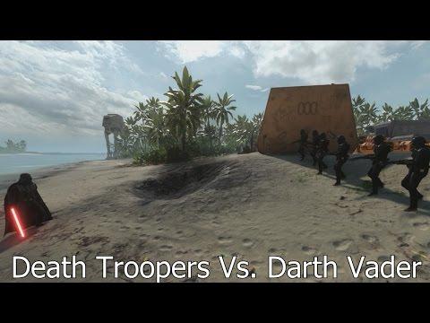 DEATH TROOPERS VS. DARTH VADER: 6 Vs. 1 - Star Wars Battlefront