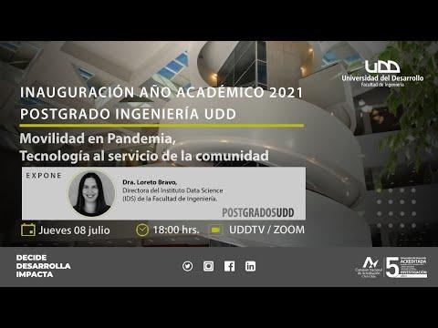 Inauguración Año Académico Postgrado: Movilidad en pandemia, tecnología al servicio de la sociedad