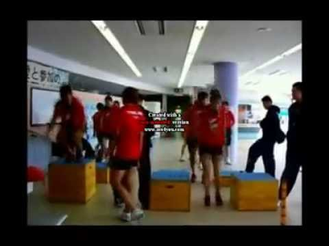 Thailand Volleyball women team training in Tatsuno 2010