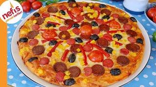 Mayasız Hamurdan Pizza  Nasıl Yapılır?