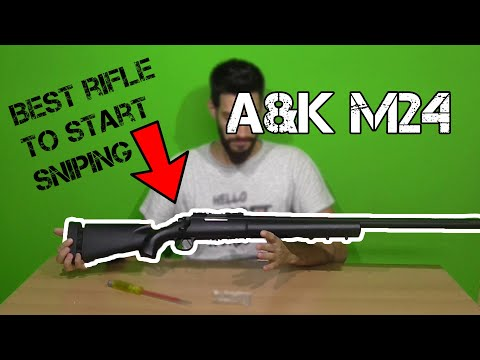 "FULL REVIEW| A&K M24 ""Best SNIPER for NEW PLAYER""Shooting test"
