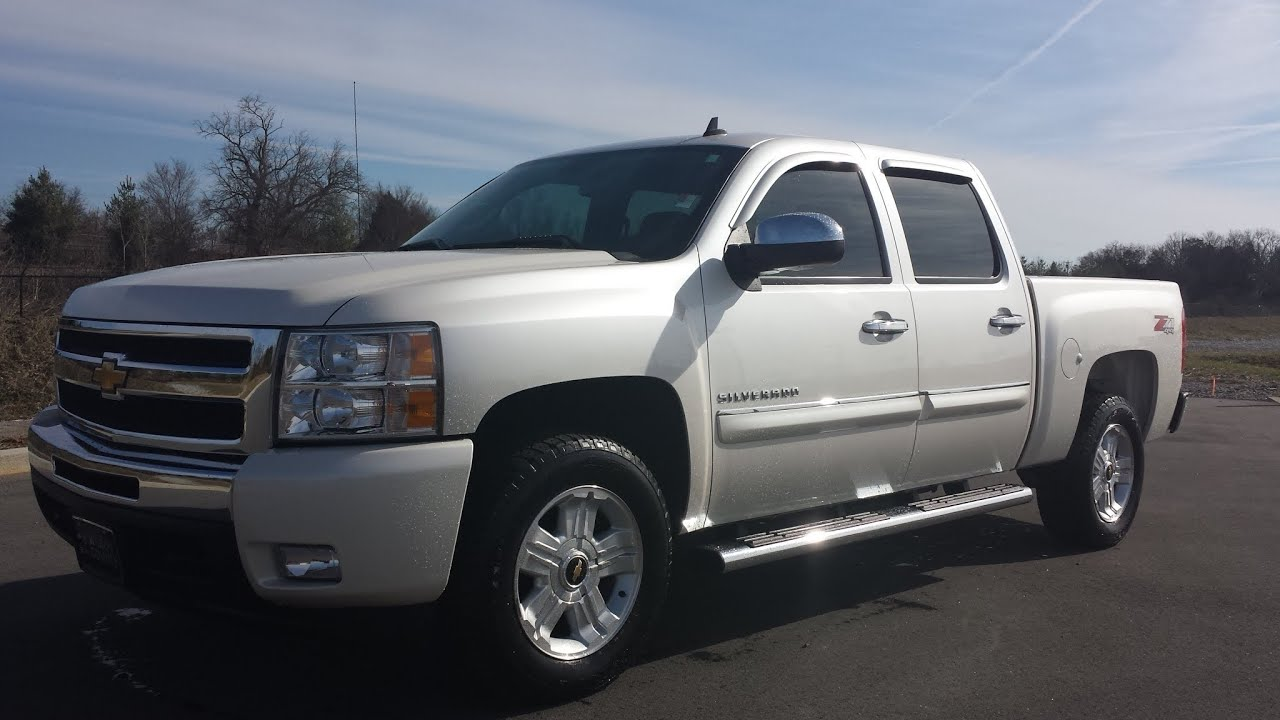 chevrolet silverado for sale lt trim crew cab z71 4x4 44k white diamond gm certified. Black Bedroom Furniture Sets. Home Design Ideas