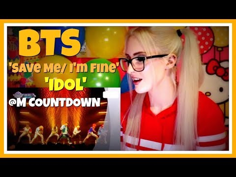 BTS (방탄소년단)  'Save Me/ I'm Fine' and 'Idol' Comeback Stages @ MCountdown REACTION!