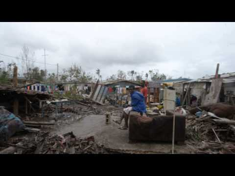 Devastation in Mele Village