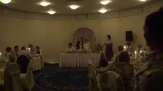 Спасибо гостям на свадьбе. Конец свадьбы.