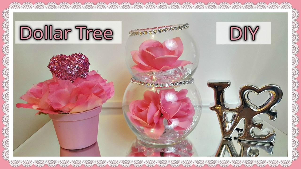 Dollar Tree Diy Valentine S Day 2017 Glam Floral Rose Bowls Craft
