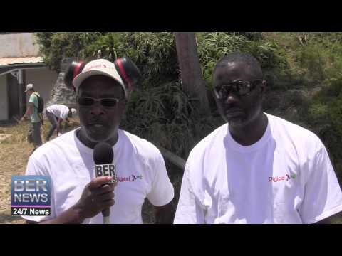 Digicel Community Clean Up At Admiralty House, June 12 2014