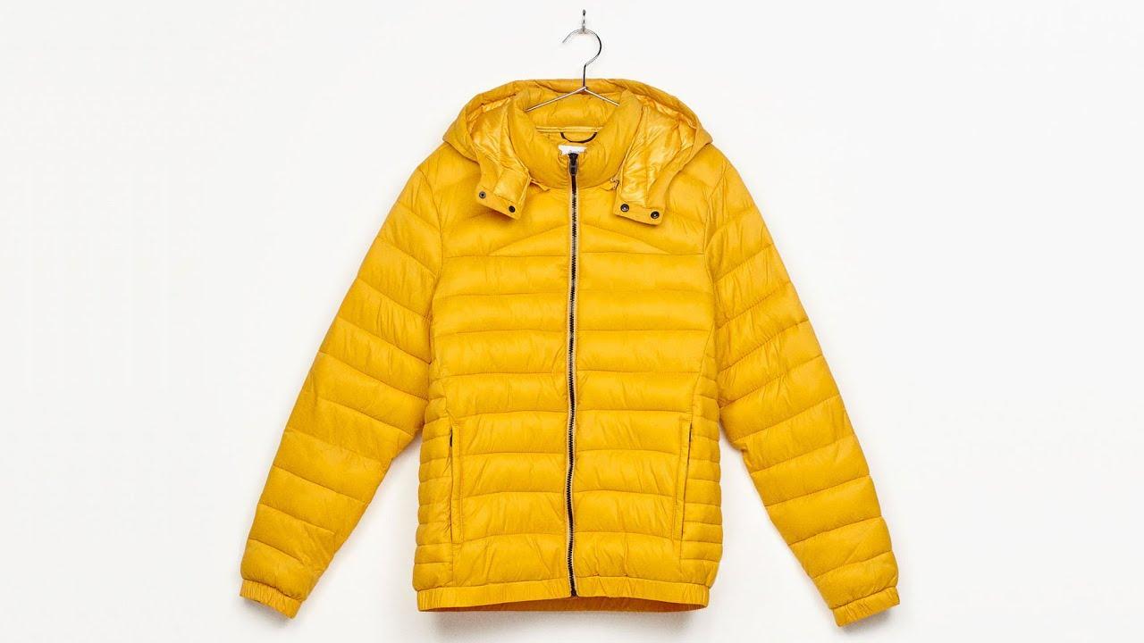 great deals 2017 special for shoe quality and quantity assured Bershka Men Colorful Puffer Jacket Yellow / Blouson Matelassé Coloris  Jaune【4K】