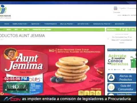 Pro Consumidor retira lotes de productos Aunt Jemima del mercado