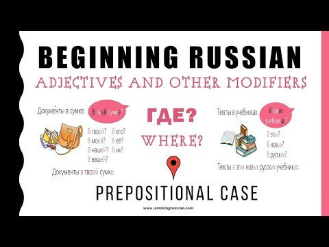 Beginning Russian: Prepositional Case: Endings Of Adjectives And Other Modifiers