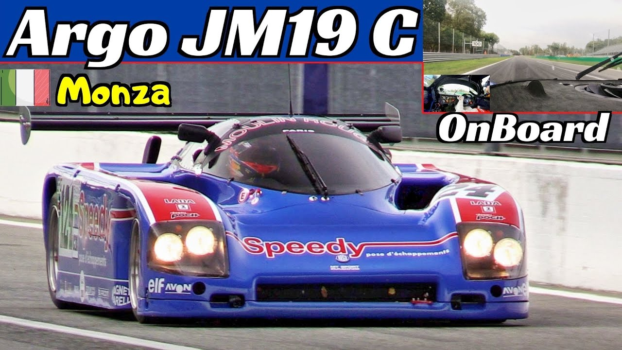 1987 Argo JM19 C Group C2, Speedy Livery - OnBoard, FlatOut & Race Actions at Monza Historic 2020