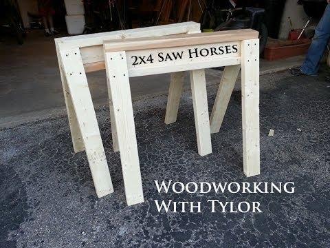 2x4 saw horses youtube. Black Bedroom Furniture Sets. Home Design Ideas