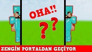 ZENGİN VS FAKİR #168 - Zengin Portaldan Geçiyor (Minecraft)