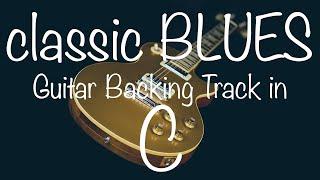 Classic Blues Shuffle Guitar Backing Track in C