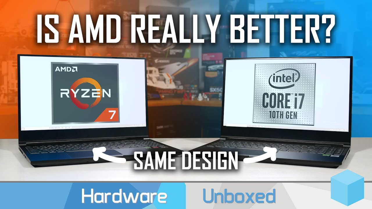Same Laptop, Different CPU: Ryzen 4000 vs Intel 10th-gen Battle feat. XMG Core 15