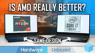 Same Laptop, Different CPU: Ryzen 4000 vs Intel 10th-gen Battle feat. XMG Core 15