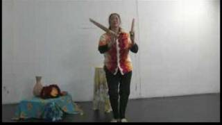Hawaiian Dance & Music Instruments : Hawaiian Dance: Combine Split Bamboo With Foot Movements