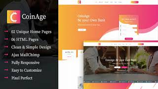 CoinAge – ICO & Cryptocurrency Landing Page HTML Template | Themeforest Website Templates and Themes