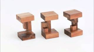 3 Pieces Burr (interlocking Puzzle) Solution