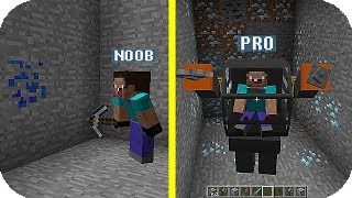 NOOB VS PRO COMO ENCONTRAR DIAMANTES QUIEN GANARA!? MINECRAFT TROLL