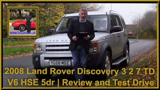 Review and Virtual Video Test Drive In Our Land Rover Discovery 3 2 7 TD V6 HSE 5dr YG58MDZ