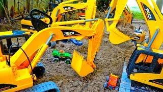 포크레인 건설 중장비 찾기 트럭 모래놀이 키...