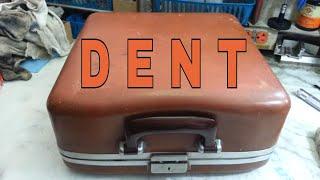 Removing Dent in Smith Corona Samsonite Typewriter Carrying Case