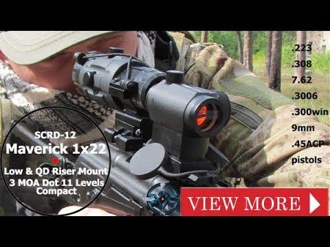 Vector Optics Maverick 1x22 Compact 3moa 11 Levels Red Dot Sight