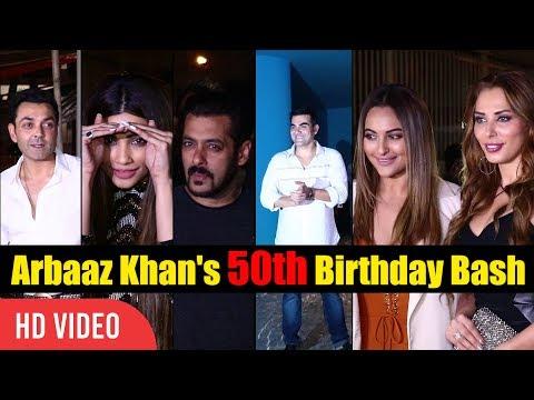 UNCUT - Arbaaz Khan 50th Birthday Bash | Salman Khan, Salim kahn, Sohail Khan, Malaika Arora Khan
