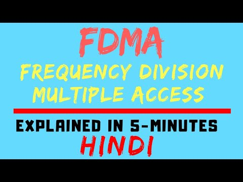 FDMA : Frequency Division Multiple Access (Mobile Communication /Computing) (HINDI)