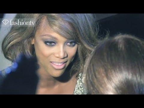 Tyra Banks & Johnny Wujek of America's Next Top Model: Front Row, Jeremy Scott SS13 NYFW | FashionTV