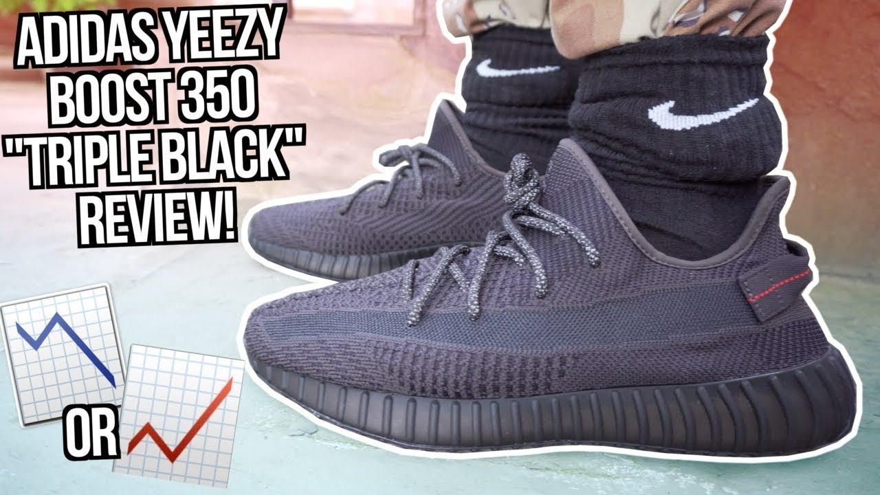yeezy 350 v2 triple black reflective