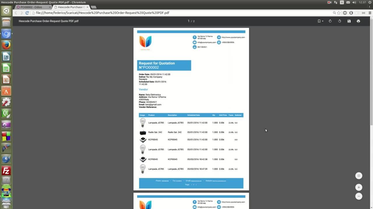 odoo create report pdf module