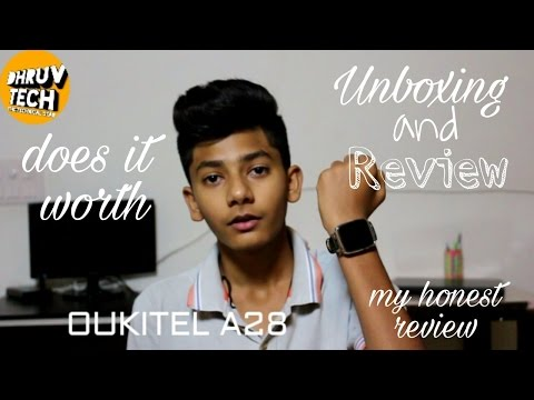 [HINDI] Oukitel A28 Smartwatch Unboxing and review!!
