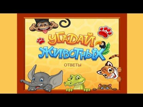 Игра Угадай животных в Одноклассниках. Ответы на игру Угадай животных в Одноклассниках.