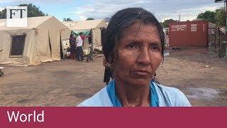 Refugees flee from Venezuela crisis