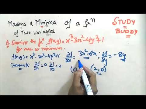Maxima and Minima Of Function Of two or more Variables
