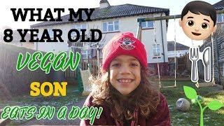 WHAT MY VEGAN KID EATS IN A DAY | MAX AGE 8🍏