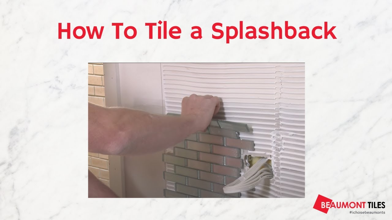 Kitchen Tiles For Splashbacks How To Tile A Splashback Diy Tiling Made Easy Youtube