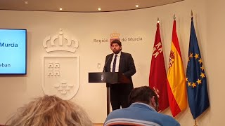 López Miras presenta el acuerdo de Presupuestos de la Comunidad para 2020