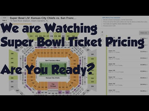 Super Bowl Ticket Prices Part 3 - Best Time To Buy?