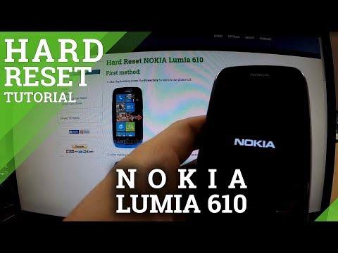 Hard Reset NOKIA Lumia 610 - how to wipe your phone