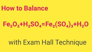 fe2O3H2SO4=Fe2(SO4)3H2O Balanced Equation Balanced equation for Iron iii oxide and Sulfuric acid